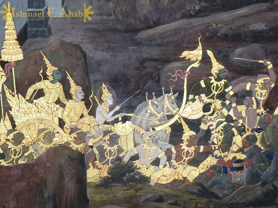 Ramakien in Bangkok Grand Palace: Rama on the move