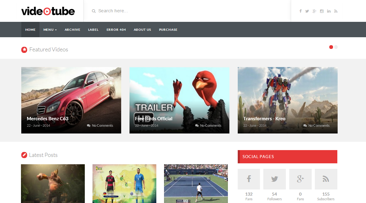 Video Tube Responsive Blogger Template | Blogger Templates Gallery