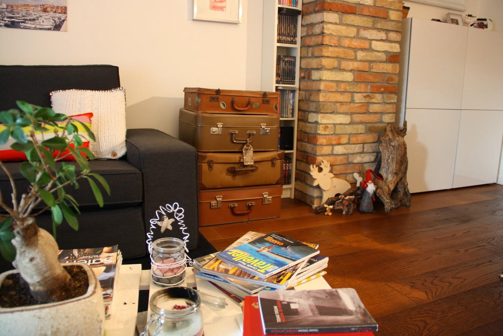 Il baule delle idee vecchie valigie per rinnovare un for Idee salotto