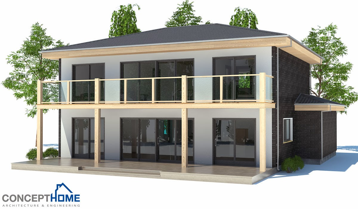 Plantas de casas modernas planta de casa moderna ch176 for Casa moderna 6 parte 2