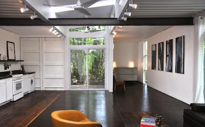 Decoración de interiores de casa reciclada