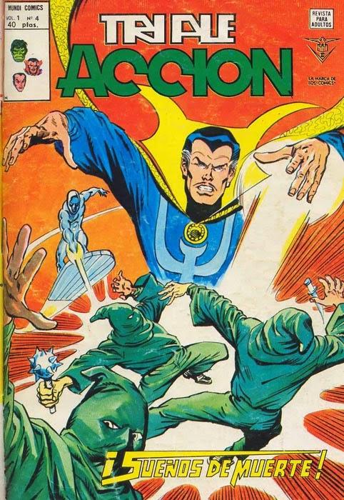Portada de Triple Acción Volumen 1 Nº 4 Ediciones Vértice