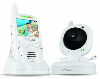 2017 levana jena digital baby video monitor with 8 hour rechargeable battery and talk to baby. Black Bedroom Furniture Sets. Home Design Ideas