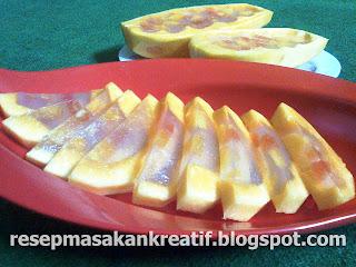 resep agar agar buah pepaya enak segar