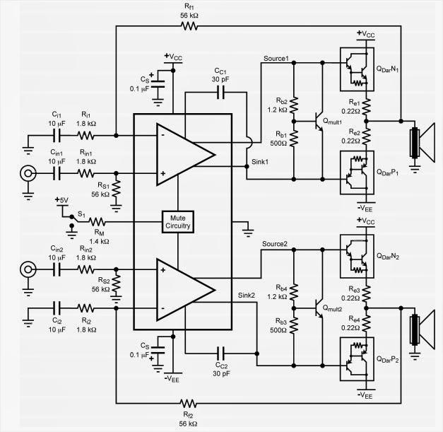 lm4702 amplifier circuit diagram
