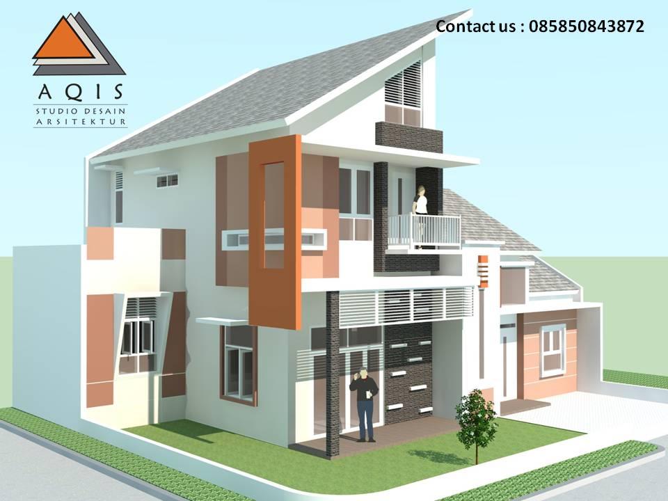 Desain Rumah Hook / Pojok Minimalis & Aqis Studio | Jasa Desain Rumah Online | Jasa Arsitek Online: Desain ...