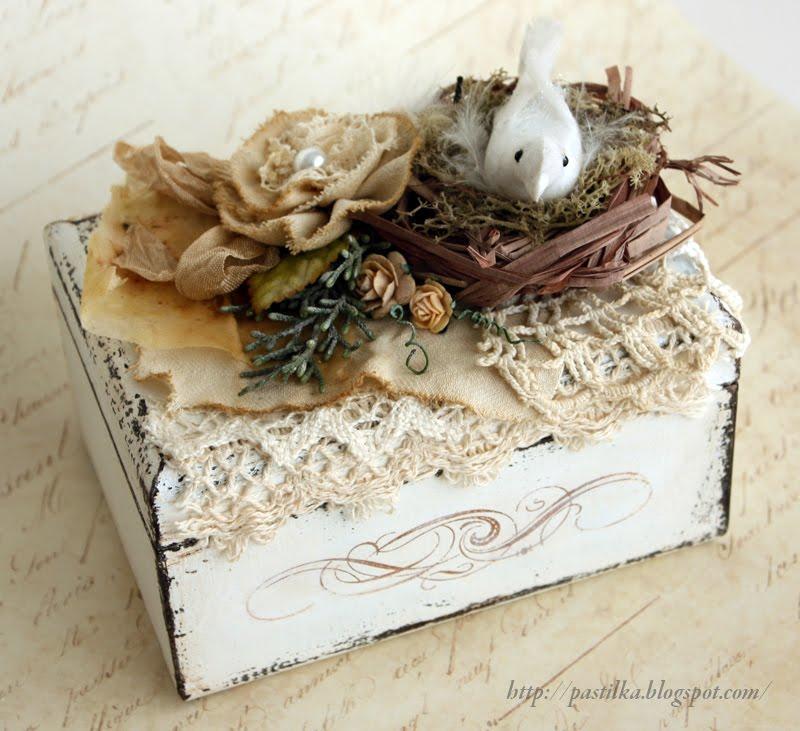 Декор для деревянной шкатулки своими руками