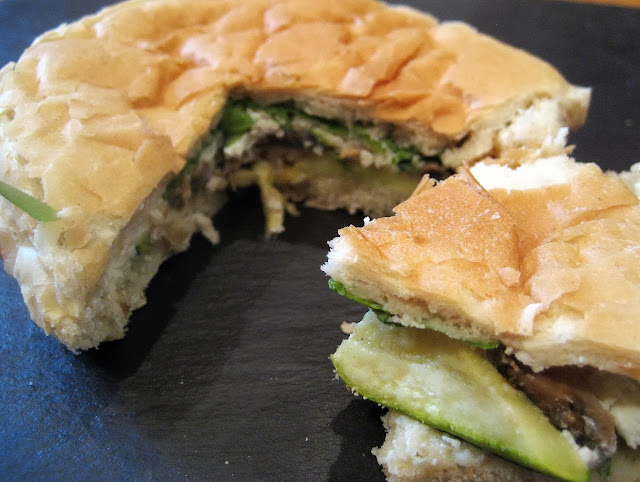 Courgette Mushroom and Pesto Panino