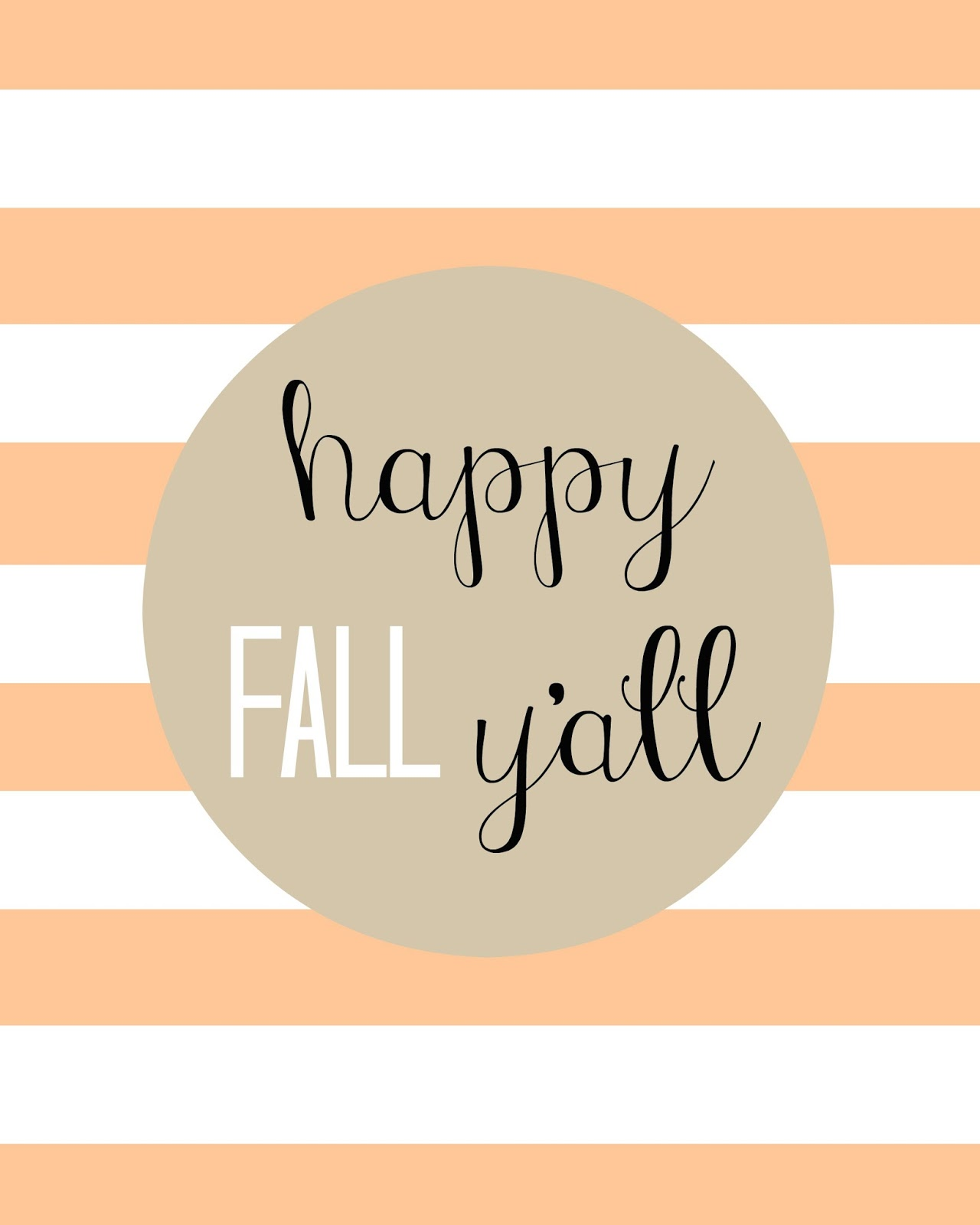 This is a picture of Simplicity Happy Fall Yall Printable