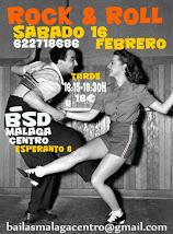 ROCK&ROLL INTENSIVO INICIACIÓN SÁBADO 16 FEBRERO EN BSD MÁLAGA CENTRO.