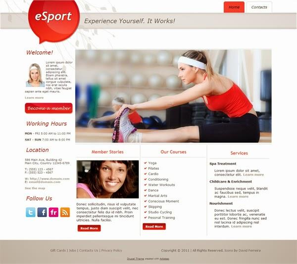ESport - Free Drupal Theme
