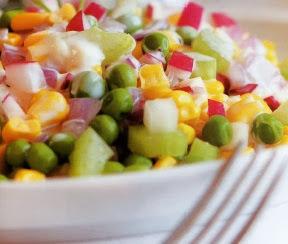 Receta Saludable Ensalada Multicolor