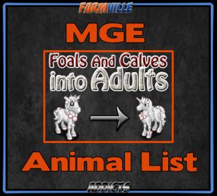 MGE Animals List