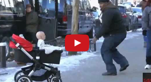 Funny Devil Baby Prank: Baby Attack in New York Scaring Strangers on the Street Devils Due