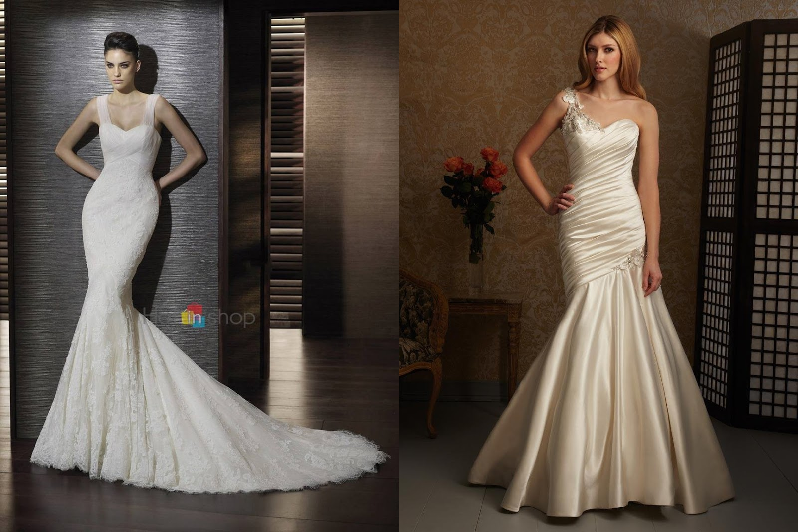 Wedding dresses sweetheart neckline mermaid style with for Tight fitting wedding dresses