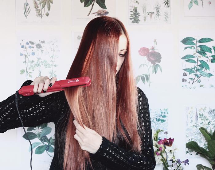 Irresistible+Me+Diamond+flat+iron+review+straightener+straight+hair