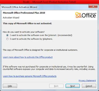 Product Activation failed pada windows 7
