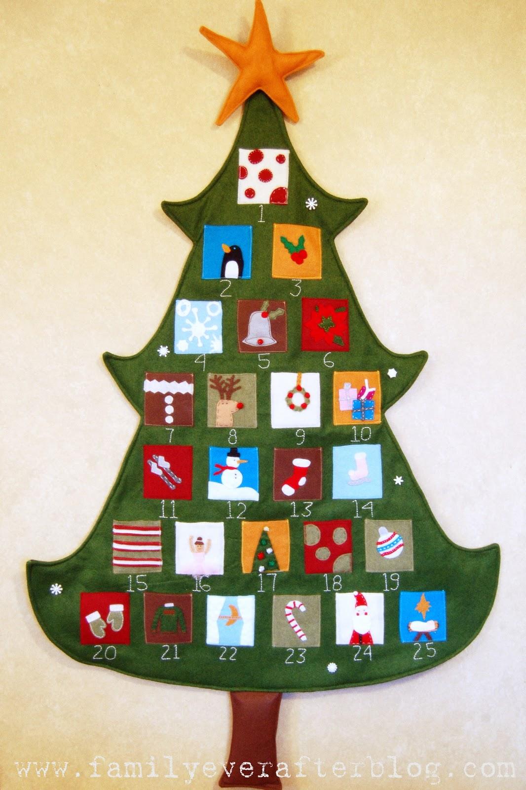 Diy Advent Calendar Tree : Felt advent calendar family ever after sugar bee crafts