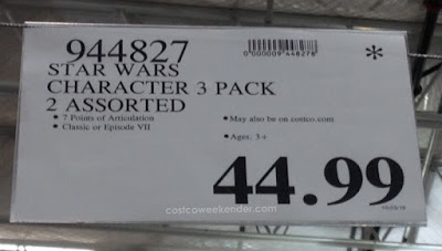 Deal for a 3 pack of Star Wars Character Action Figures at Costco