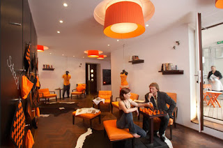 Orange Interior Design for Restaurant