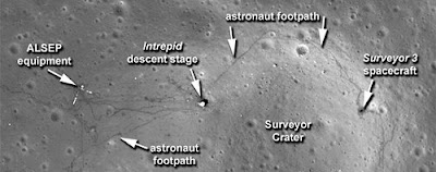 sampah di bulan