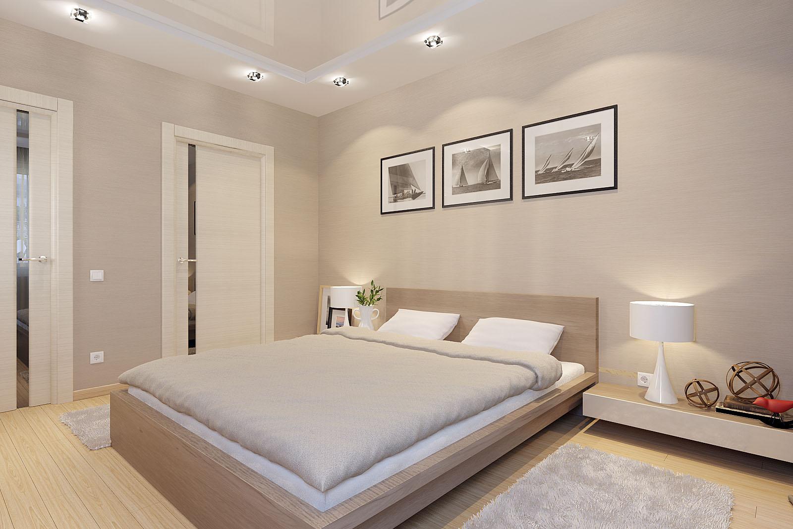 Цвет капучино в дизайне спальне