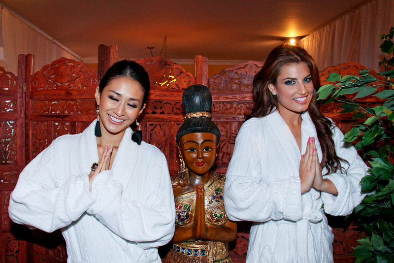 Miss Universe 2011 Photos at Buddha Spa