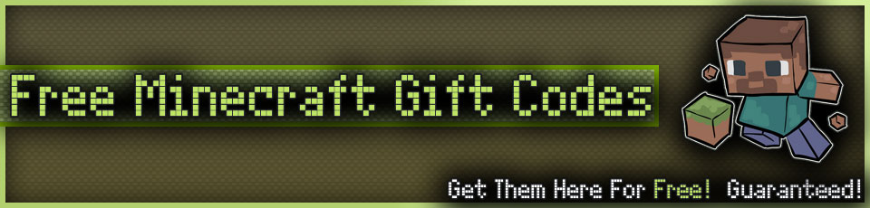 how to get minecraft gift code for free