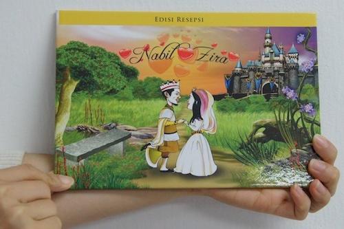 Ekslusif) Kad Kahwin Nabil & Zira Berkonsep Buku Cerita Dongeng