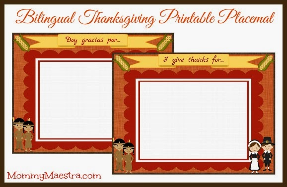 Thanksgiving Printables in Spanish