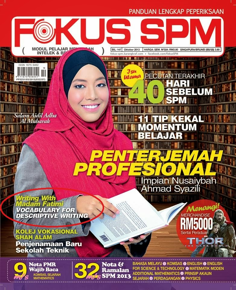Writing with Madam Fatimi Estar @ Fokus SPM