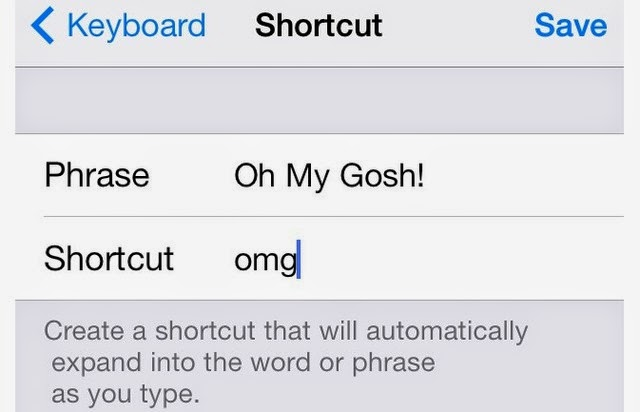 Create Keyboard Shorcuts