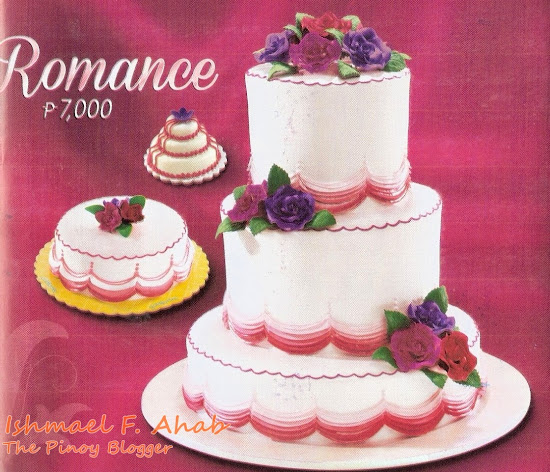 Goldilocks wedding cake: Romance