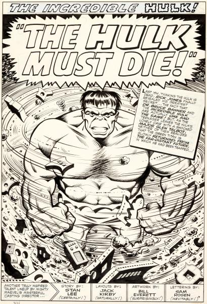 Splash Page: Incredible Hulk
