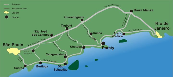 how to get to paraty from sao paulo