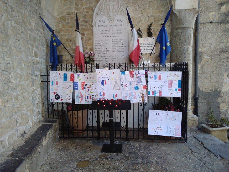 Le petit clansois c r monie en hommage paris suite aux - Le comptoir du petit marguery paris 13 ...