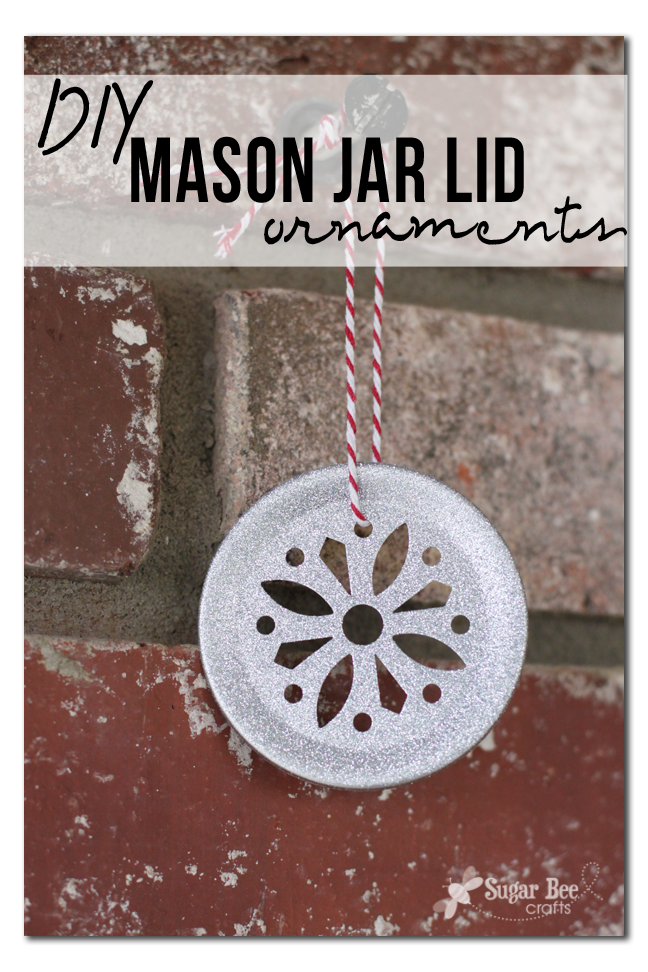Diy Mason Jar Lid Ornament Sugar Bee Crafts