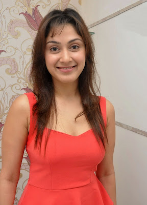 Manjari+(32) Manjari Phadnis Super Hot Photos in Red Dress At The Launch Of Naturals Family Salon & Spa