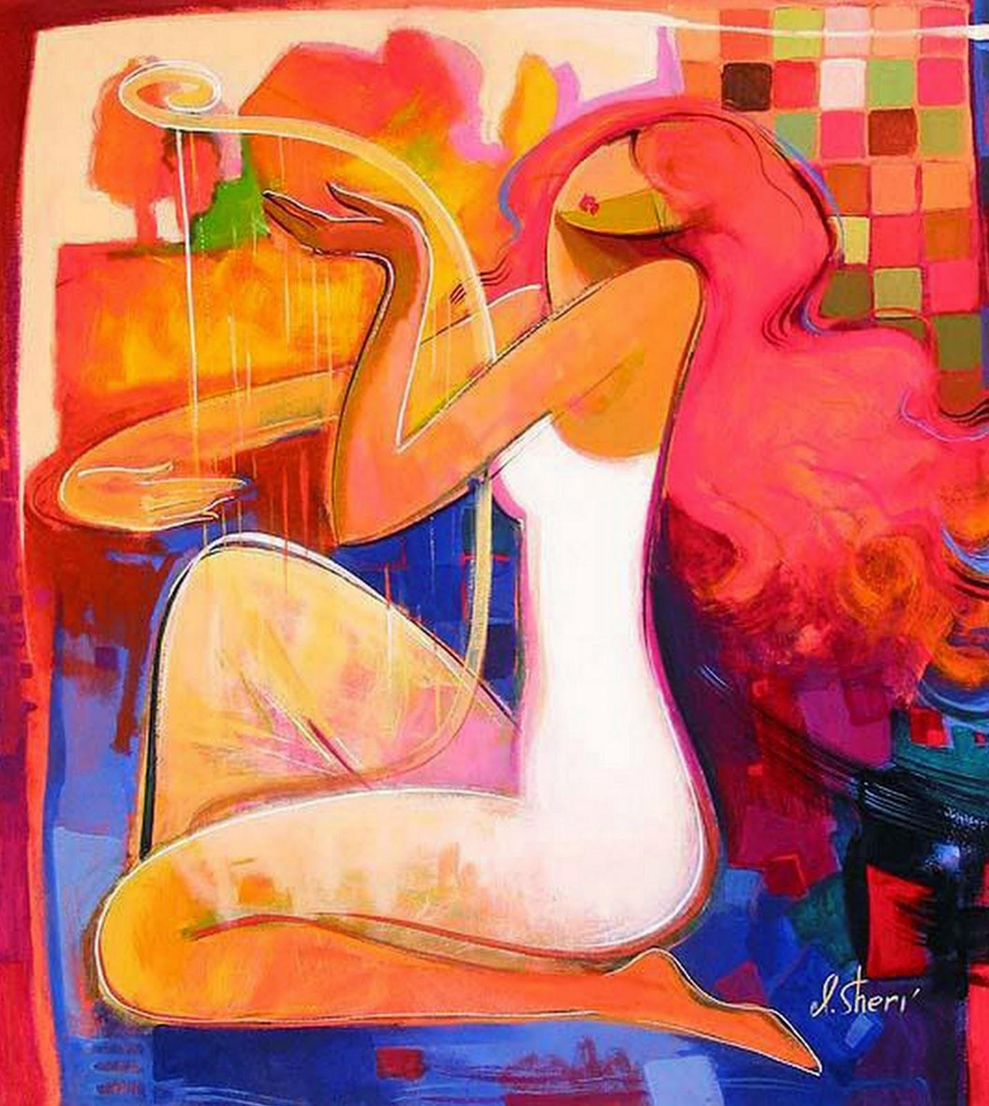 mujeres-cuadros-modernos-chicas
