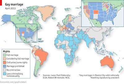ゲイ婚 結婚 世界地図