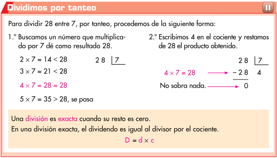 http://www.primerodecarlos.com/TERCERO_PRIMARIA/noviembre/Unidad5/actividades/mates/division_exacta/visor.swf