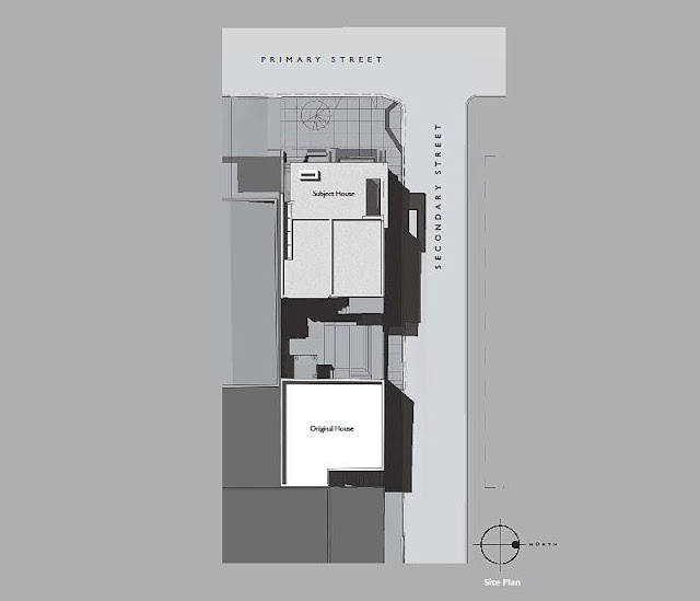 Site plan of this modern home