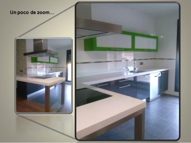 Bambú Muebles y Cocinas Una cocina con mucha energía el verde