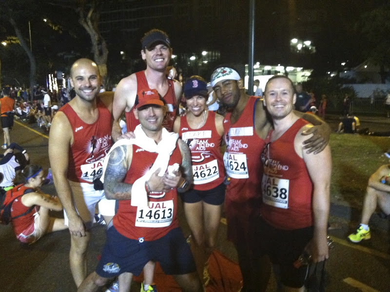 T2 Team to End AIDS runners Honolulu Marathon 2012