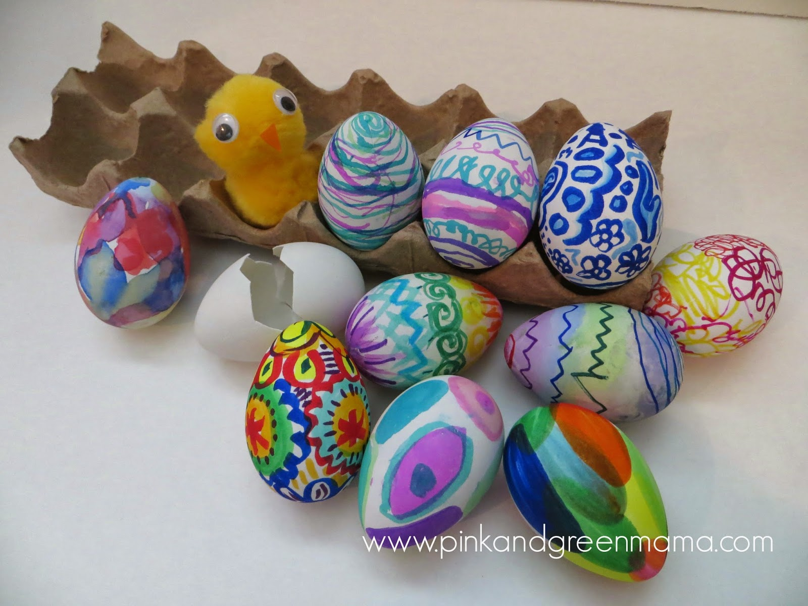 Kids challenge easter eggs mess free egg decorating with kids
