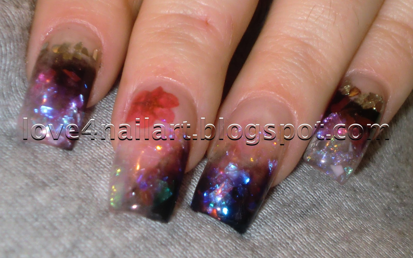 Love4nailart ice mylar flakes w encapsulated flower nails ice mylar flakes w encapsulated flower nails prinsesfo Choice Image