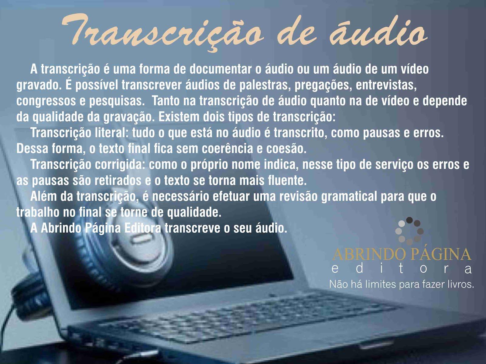 Transcrição de Áudio