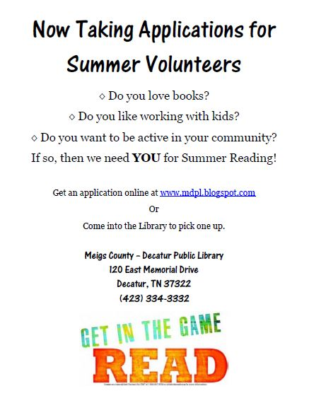 Teen Volunteer Opportunities