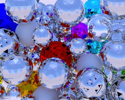 Wallpaper - Esferas de cristal - Fondo de pantalla