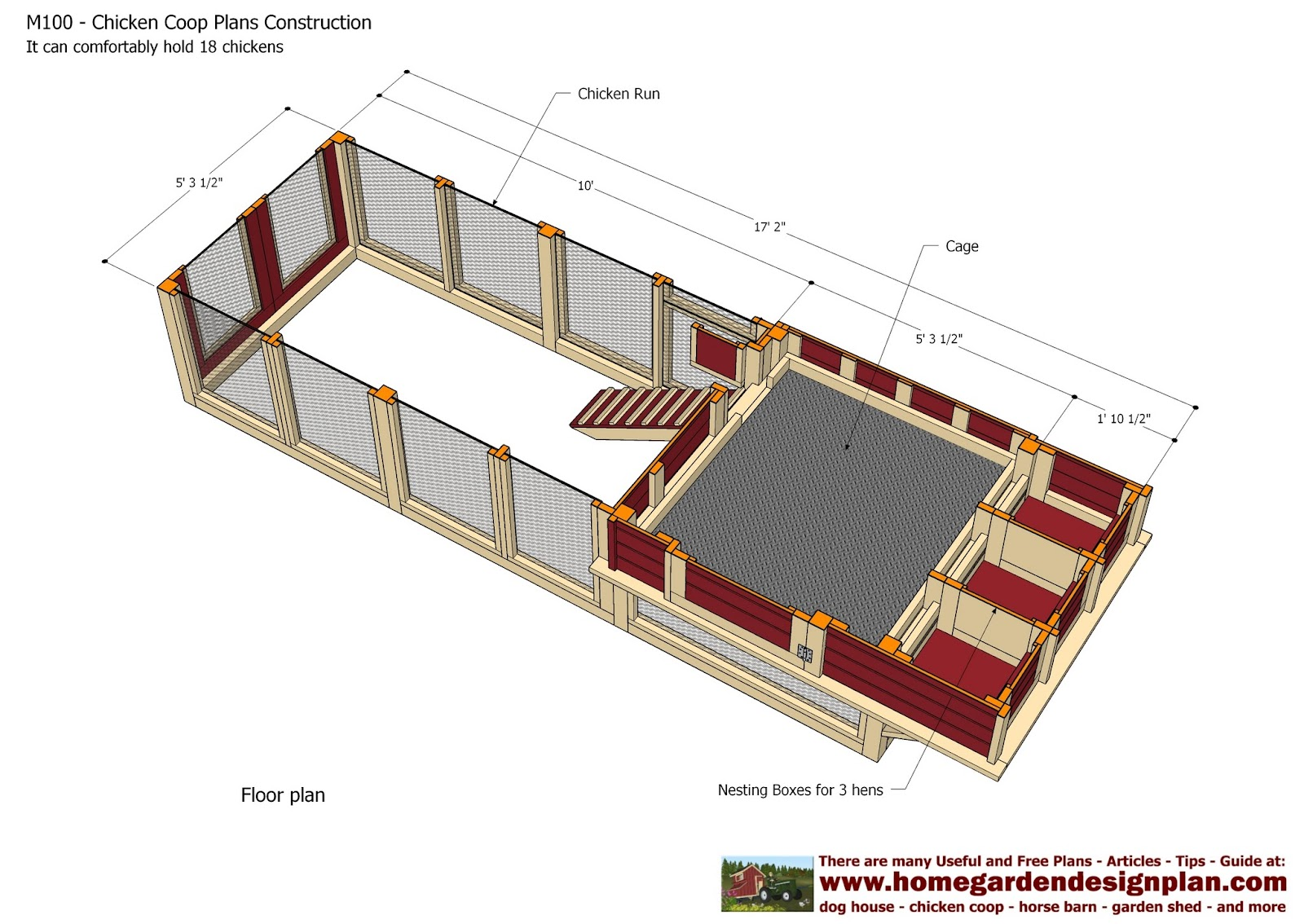 Small chicken coop february 2015 for Poultry house plans for 100 chickens